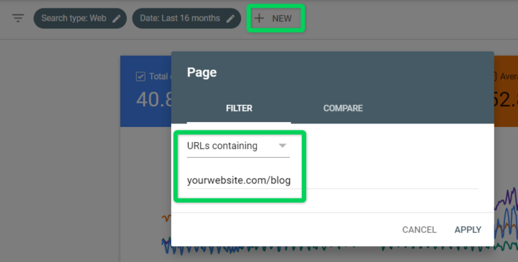 google search console -checking blog influence on seo
