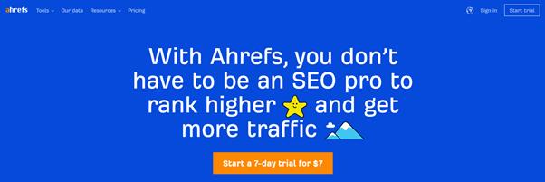 content marketing tools ahrefs