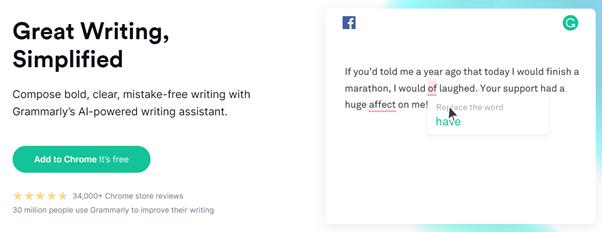 grammarly best content marketing tools