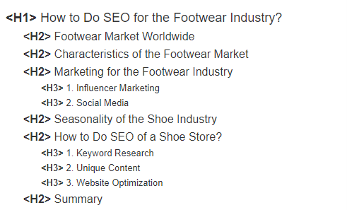heading structure on page seo guide