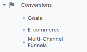conversions in google analytics