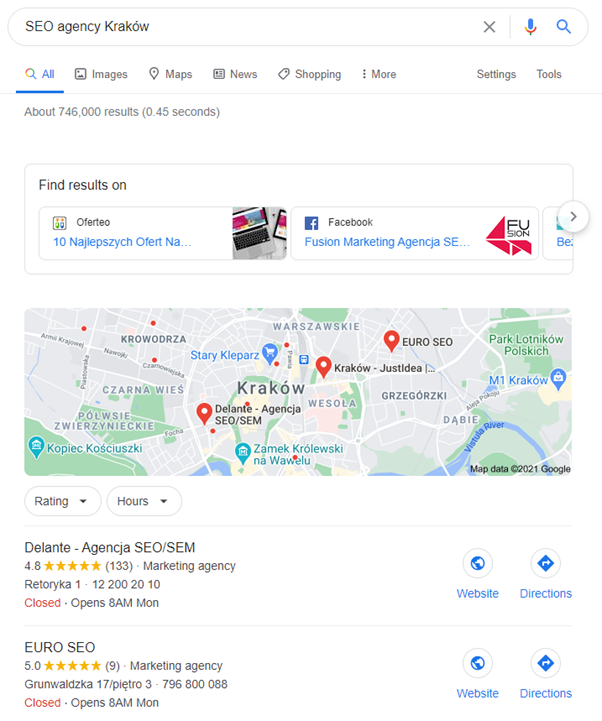 city map in local seo