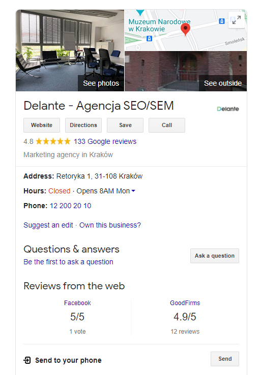 local seo elements google my business