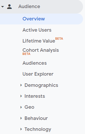 google analytics for seo and marketing - audience overview