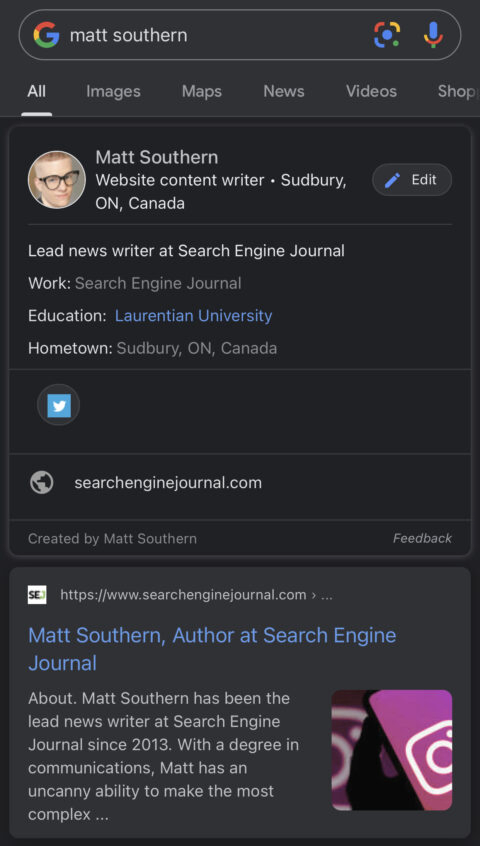 add me to search profile instruction