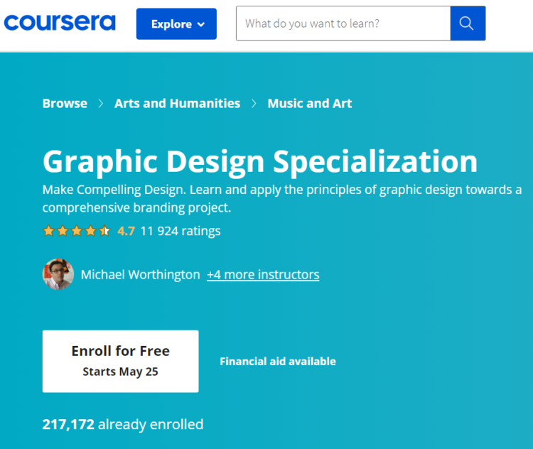 seo for educational industry landing page example