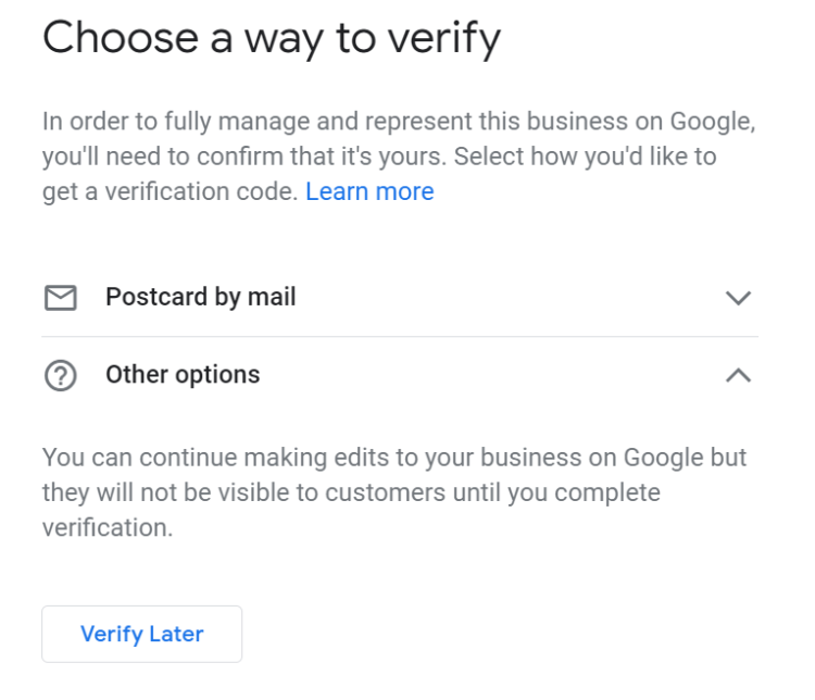 how to add company to google my business verification