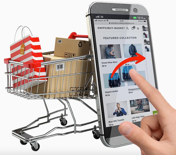 swipe to buy PrestaShop application