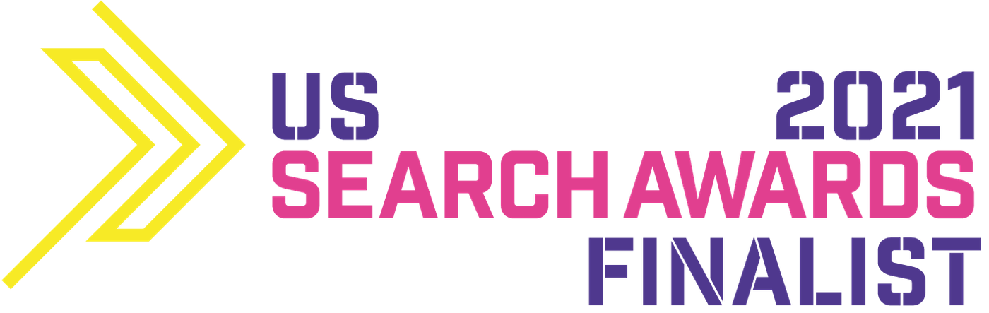 us search awards 2021 nomination for delante badge