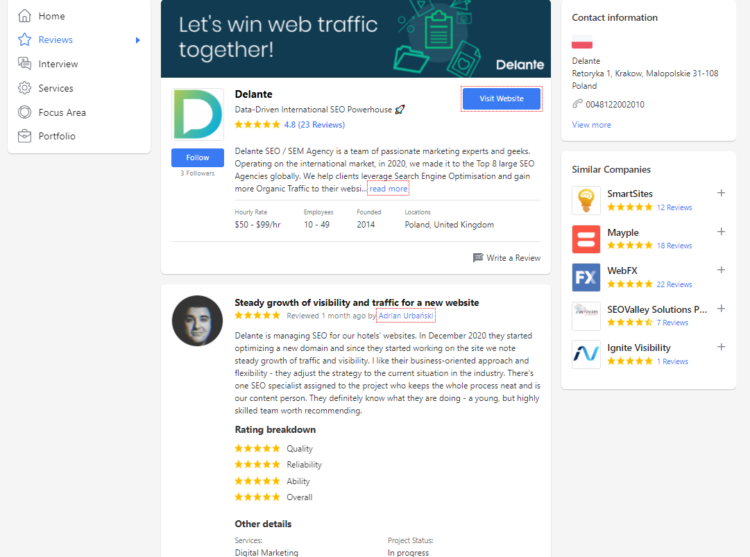 how to choose the right SEO company online goodfirms marketplace