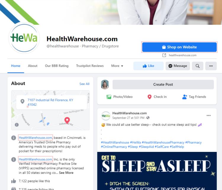 seo for online pharmacy social media