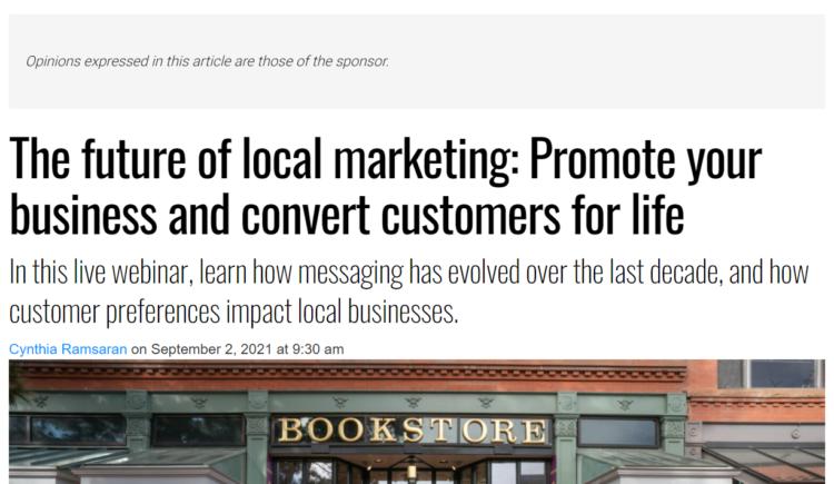creating converting sponsored article
