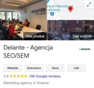 google business card SEO
